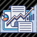 analytics, chart, market, report, research