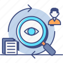 asynchronous, business, market, research icon