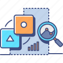 business, causal, market, research icon