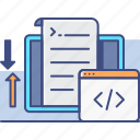 coding, market, programming, research icon