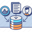 collection, data, research, storage icon