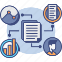 collection, data, market, research icon