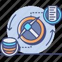data, market, mining, storage icon