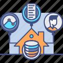 data, market, storage, warehouse icon