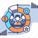 business, demographics, market, research icon