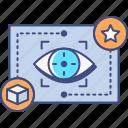 eye, market, tracking, view icon