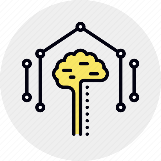 artificial, brain, intelligence, qualification, training icon