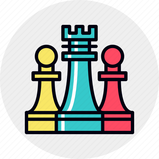 business, market, positioning, strategy icon