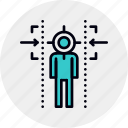 aim, audience, customer, target