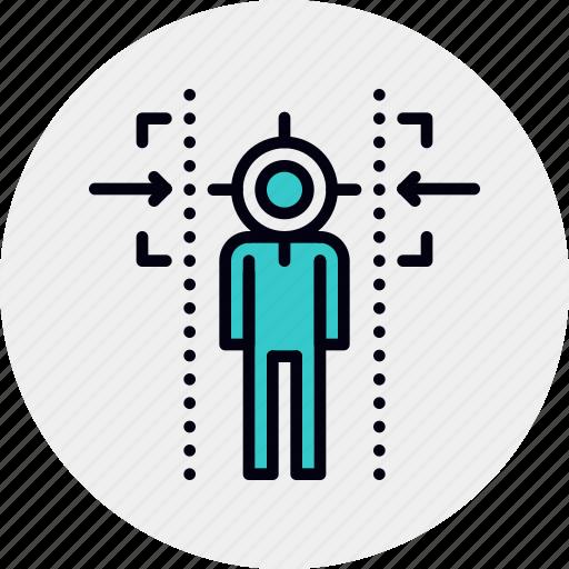 aim, audience, customer, target icon