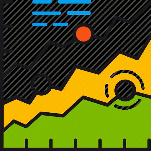 analytics, chart, data, graph, market, report, statistics icon