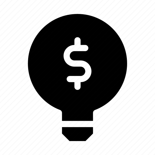 business and finance, dollar symbol, idea, lightbulb, marketing, solution, strategy icon