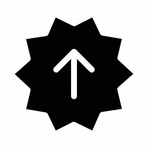 arrows, business, label, promotion, sticker, up arrow icon