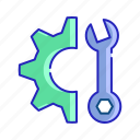 construction and tools, edit tools, home repair, improvement, maintenance, repair, wrench icon