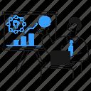 marketer, giving, keynote, analysis, profit, consumer, group icon
