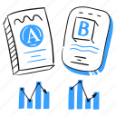 testing, ab, split, test, compare, version, difference icon