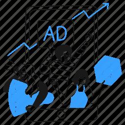 digital, ads, marketing, team, growth, arrow, sign