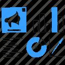 digital, ads, performance, marketing, megaphone, sale, statistic