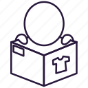 box, commodity, delivery, package, parcel, present, product icon