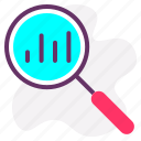graph, growth, marketing, report, search, search analytics, statistics icon