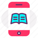 advertising, books, e-books, elearning, marketing, mobile application icon