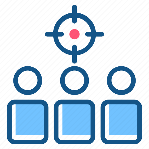 advertisement, aim, audience, goal, marketing, target audience icon