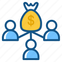 budget, business, income, investment, profit, revenue, revenue sharing icon