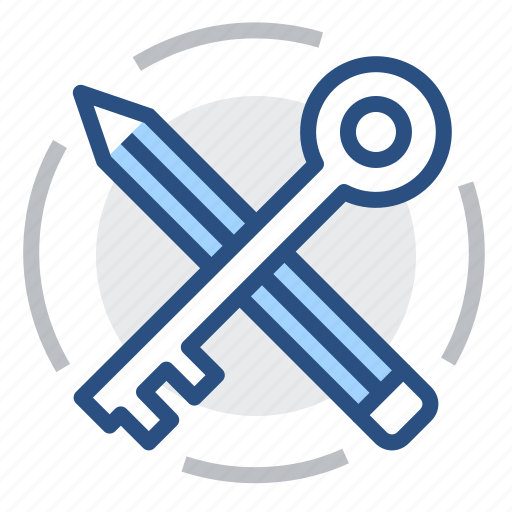 identifier, key, keywords, pen, search, seo, web icon