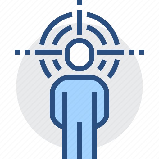 aim, audience, group, object, people, public, target icon
