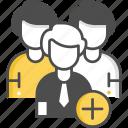 add user, following, user, social media, add friend, followers icon