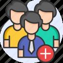 add user, user, following, social media, followers, add friend icon