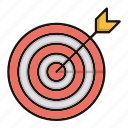 focus, goal, marketing, target icon
