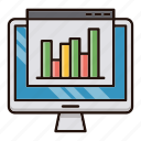 analytics, chart, marketing, online, report, site, web icon