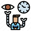 channel, communication, customer, management, time icon