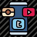 internet, media, mobile, share, social icon
