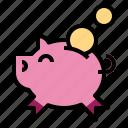bank, coin, funds, piggy, savings