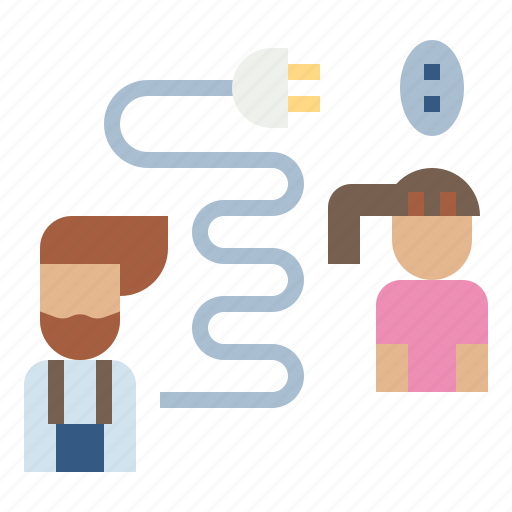 business, connectivity, customer, owner, plug icon