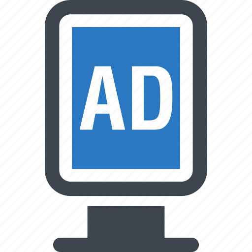 Poster, ad, advertisement, advertising icon