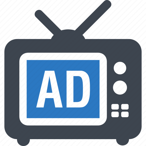 ad, advertisement, advertising, tv icon