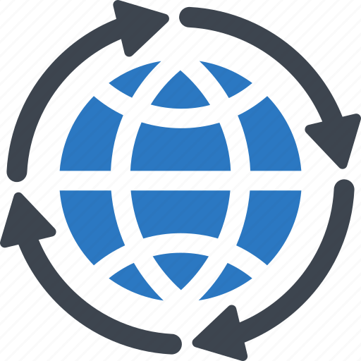 connect, connection, global, link, wheel, worldwide icon