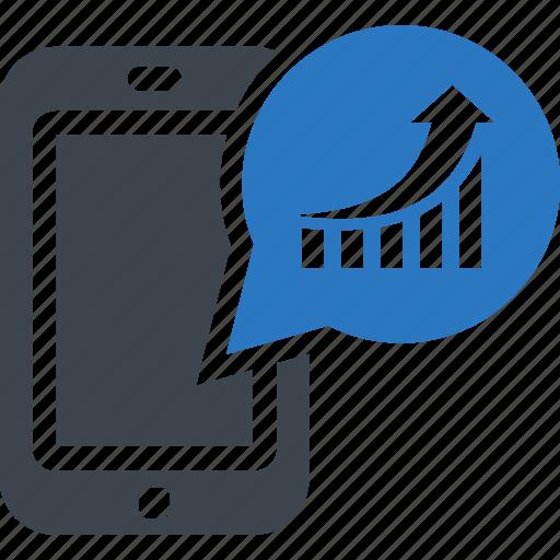 analysis, marketing, mobile, phone, statistics icon