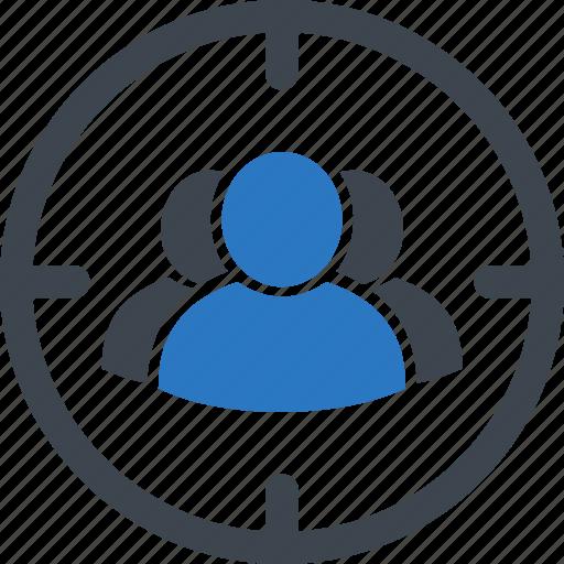 audience, market, target, targeting, user icon
