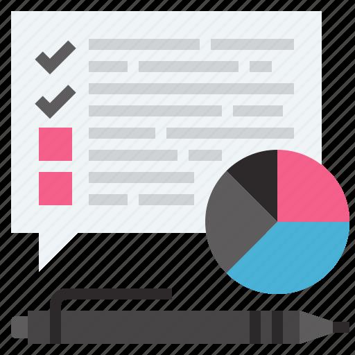 analytics, customer, data, questionnaire, report, statistics, survey icon