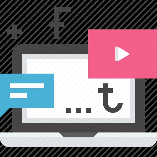 advertising, digital, electronic, internet, marketing, online, promotion icon