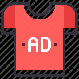 ad, clothes, shirt, t, t-shirt, tshirt, wear icon