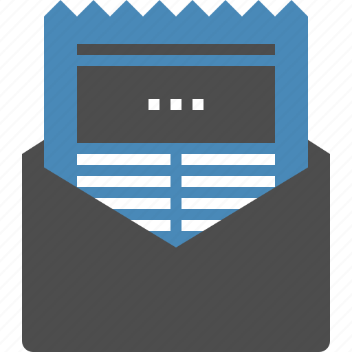 email, letter, news, newsletter, newspaper, press, release icon