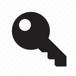 key, locked, login, secure icon