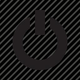 down, off, shut, turn icon