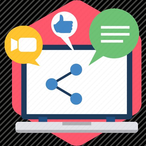 internet, links, media, multimedia, network, online, social icon