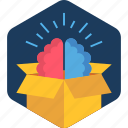 brain, business, idea, innovation, innovative, parcel icon